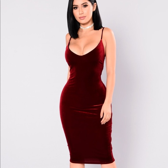 058b341653c Fashion Nova Red Velvet Dress
